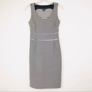 Banana Republic Stripe Fitted Structured Dress